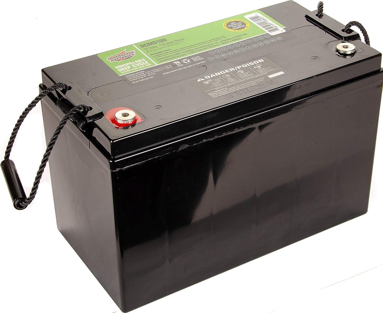 Interstate Batteries 12V 110 AH SLA/AGM Deep Cycle Battery for Solar