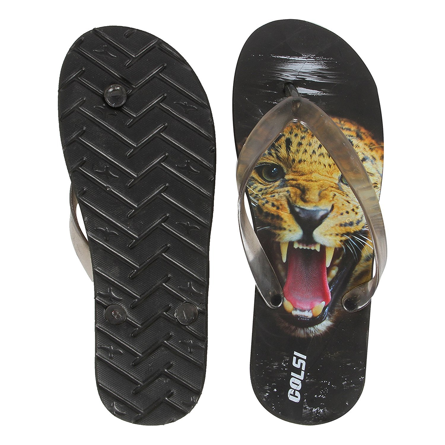 c6849449902f Allez Kros Men s Black Printed Flip-Flops and House Slippers  Buy Online at  Low Prices in India - Amazon.in