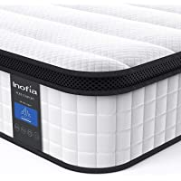 Inofia Hybrid Innerspring Mattress in a Box, Cool Bed with Breathable Soft Knitted Fabric Cover, CertiPUR-US Certified, 100 Risk-Free Nights Trial