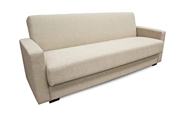 Lovely Hodedah Import GRACIA BEIGE Sofa Converts To Bed