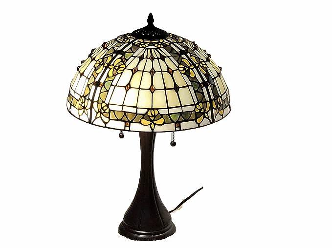 Tiffany Style Stained Glass Table Lamp Fleur De Lis Amazon Com