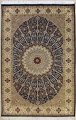 Amazon Com New Silk Persian Navy Rug High Quality Silk