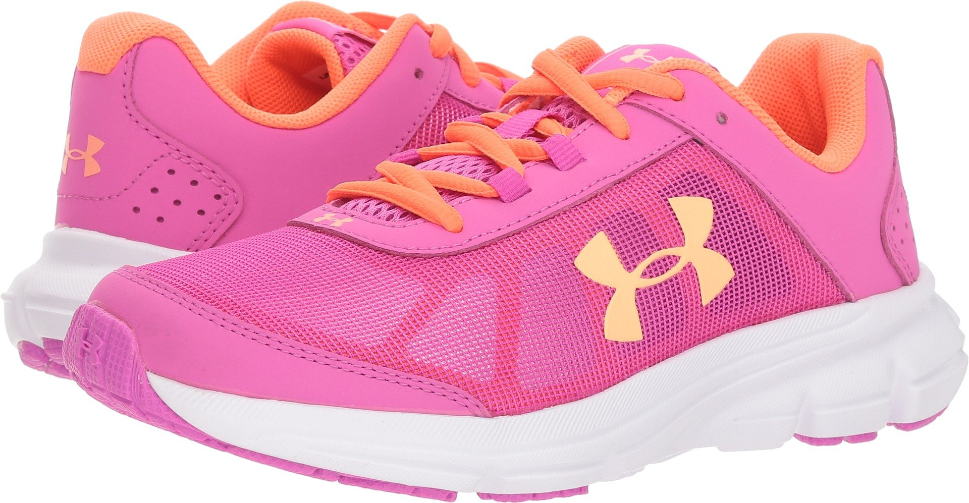 Under Armour Girls' Grade School Rave 2 Sneaker 502/Fluo Fuchsia, 3.5 by Under Armour (Image #1)