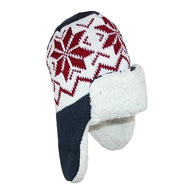 0241d7626a6 CTM Kids  Fleece Lined Helmet Hat with Winter Design  Amazon.co.uk ...