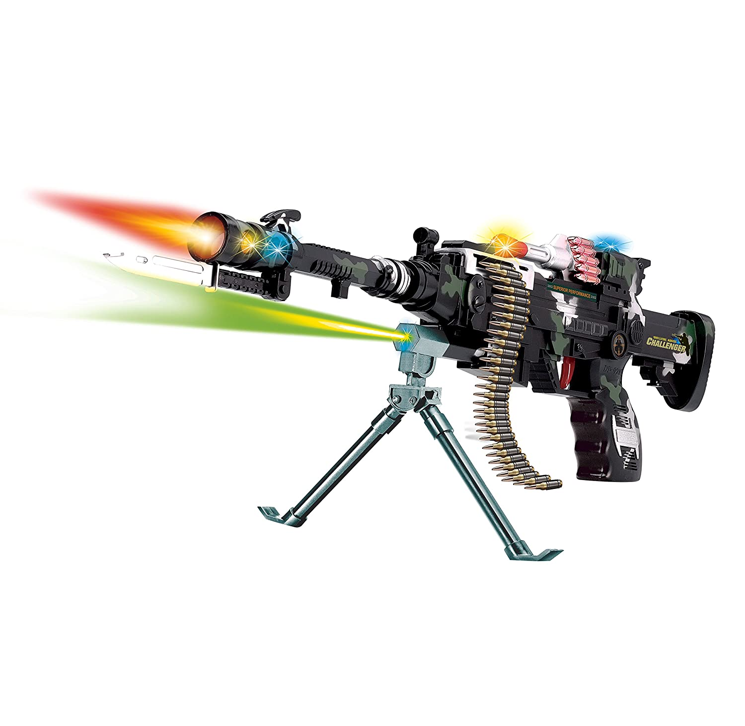 22 inch Rapid Fire Machine Combat 3 Gun with Lights and Sound Fatherland Shop DF-8218B