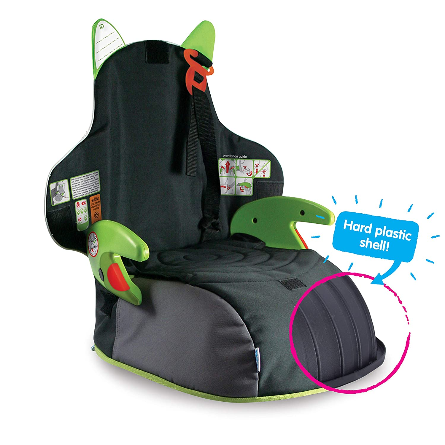 0fef94e3c36 Trunki BoostApak - Travel Backpack   Child Car Booster Seat for Group 2-3  (Green)  Amazon.co.uk  Luggage