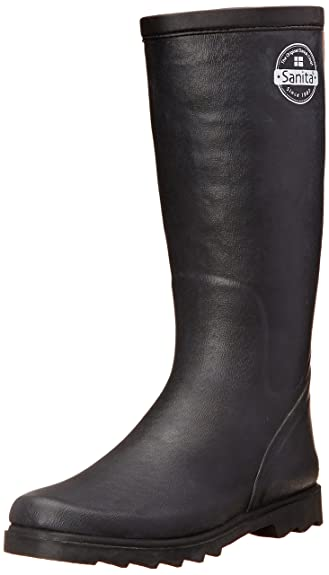 Sanita Women's Blame It on The Rain Boot, Black, 36 EU/5.5-