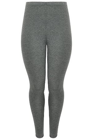 4d8790a8d60677 Yoursclothing Plus Size Womens Dark Marl Viscose Elastane Leggings Size 14  Grey
