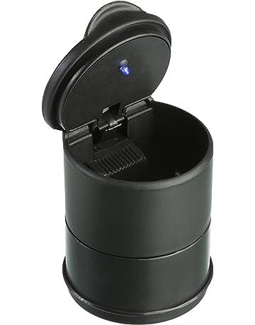 baf0a45e03 TRIXES Posacenere in Plastica da Auto con Coperchio e LED - Posacenere per  Auto