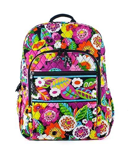 10474fa31d44 Amazon.com  Vera Bradley Campus Backpack (Va Va Bloom)  Shoes
