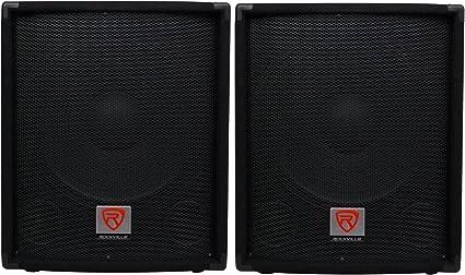 "MDF//Pole Mount Rockville SBG1154 15/"" 800 Watt Passive 4-Ohm Pro DJ Subwoofer"