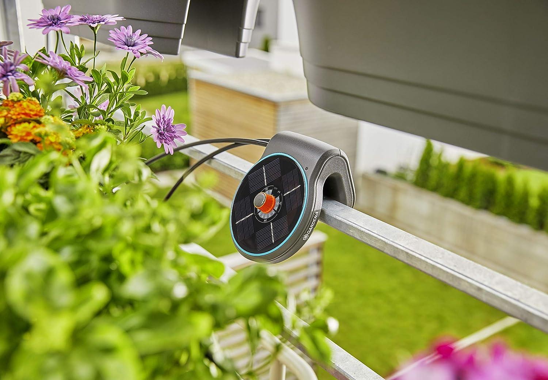 schwarzt/ürkisorange Gardena Solar-Bew/ässerung aquaBloom Set