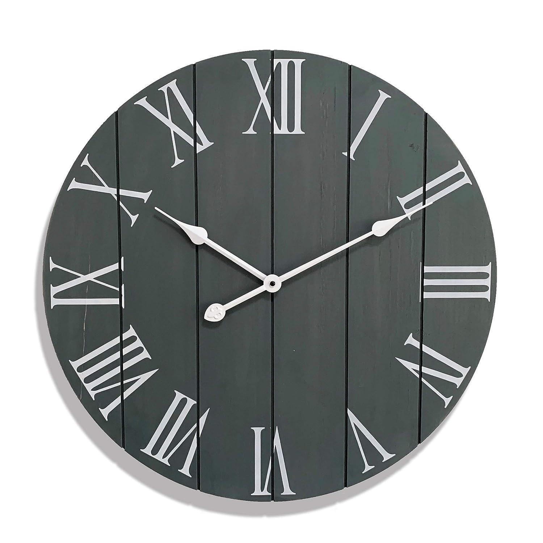 Large Decorative Wall Clock - Farmhouse Home Decor - Kitchen Clocks - Rustic Vintage Decoration - 24 Inch Wall Clock - Modern Oversized Timepiece - Farmhouse Wall Clock Large - Classroom Clock