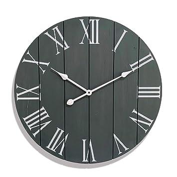 Large Decorative Wall Clock Farmhouse Home Decor Kitchen Clocks Rustic Vintage Decoration 24 Inch Wall Clock Modern Oversized Timepiece
