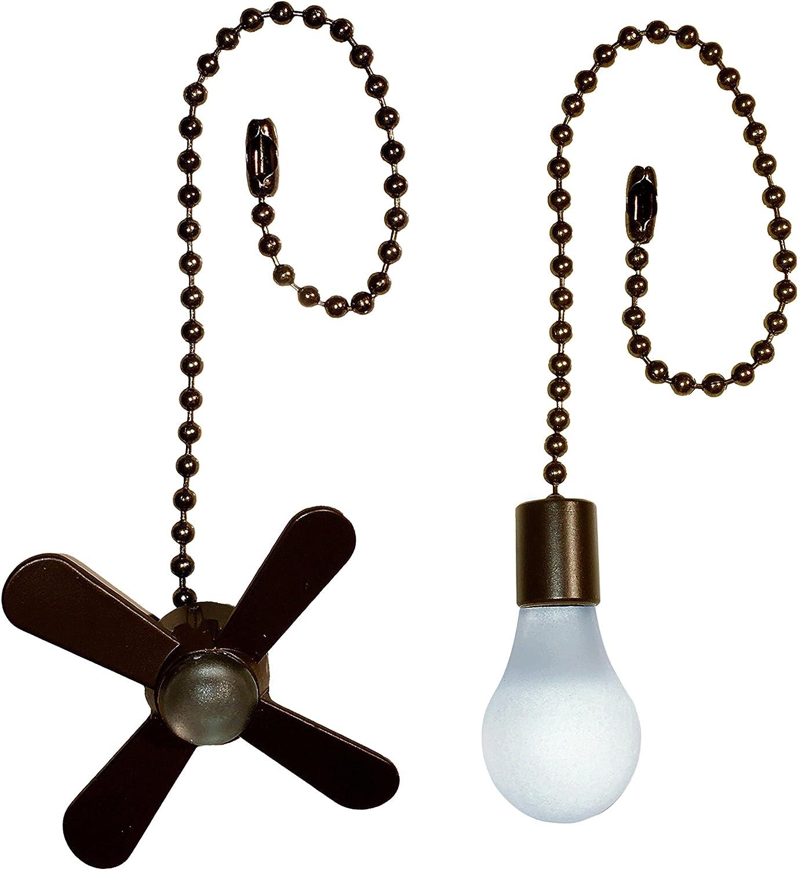 Harbor Breeze 7.5-in Bronze Metal Pull Chain - -