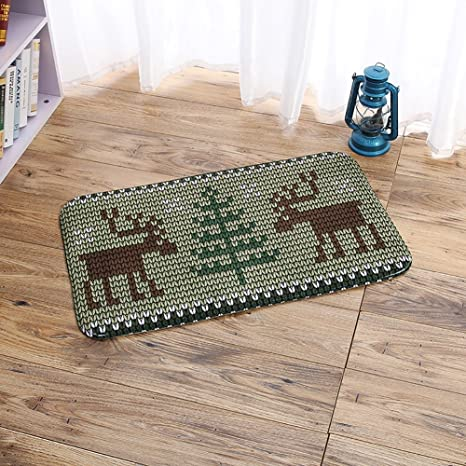 nordic style kitchen grey carpet nordic style kitchen bedroom footcloth creative skidproof rug green forest and deer amazoncom