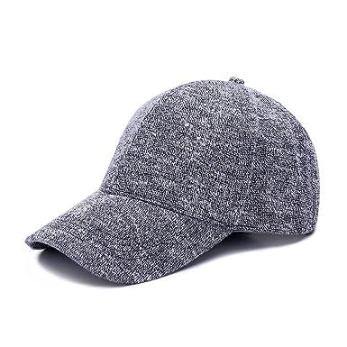 JOOWEN Knit Soft Plain Classic Hat Adjustable Baseball Cap (Grey ... 0f8db4103d4c