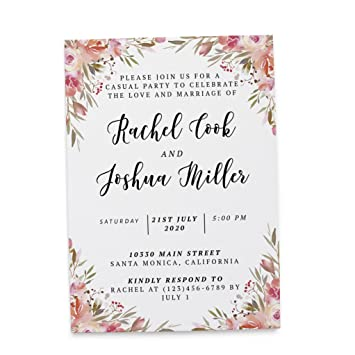 Amazon Com Marriage Invitation Cards By Loveateverysight Post