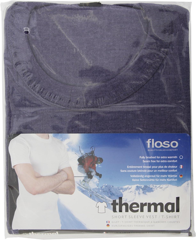Floso Gama Est/ándar Camiseta Interior t/érmica de Manga Corta con Cuello Redondo