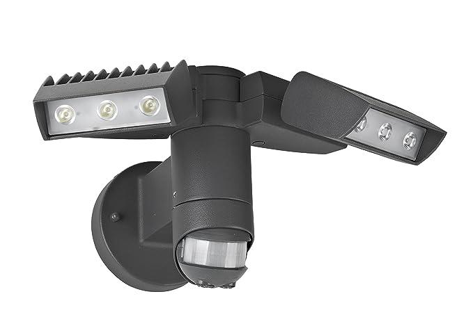 Lutec corn luce di sicurezza a led da esterno con sensore di