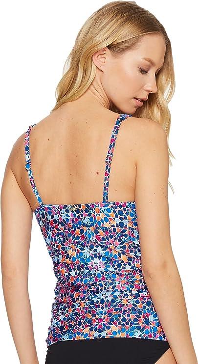 3f35da8a28f17 Jantzen Women's Moroccan Tile V-Neck Underwire Tankini at Amazon Women's  Clothing store: