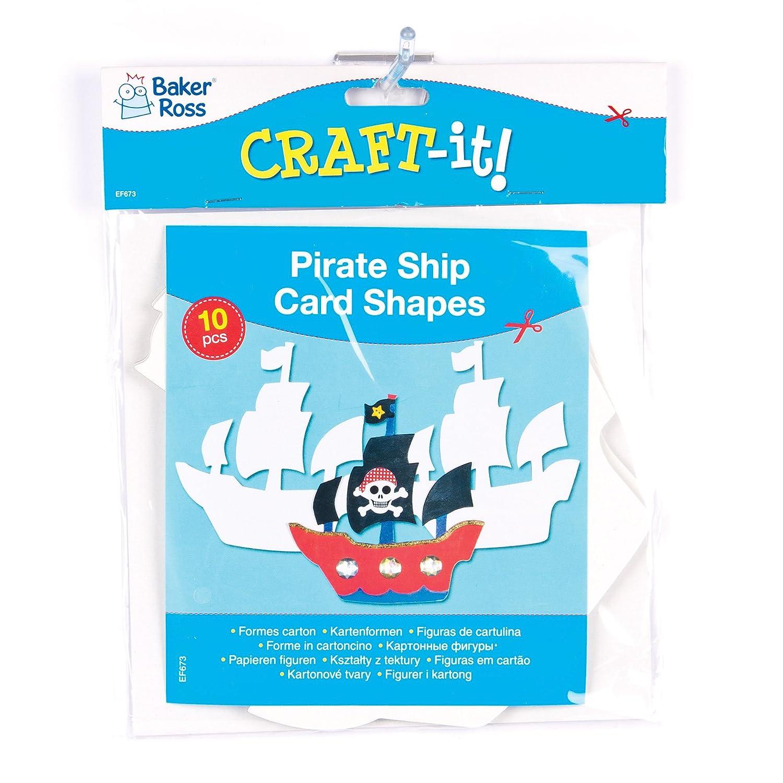 Amazon.com: Barco pirata tarjeta Art & Craft Formas para ...