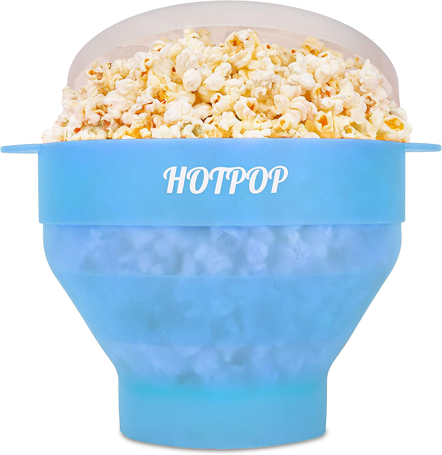 The Original Hotpop Microwave Popcorn Popper, Silicone Popcorn Maker, Collapsible Bowl Bpa Free and Dishwasher Safe - 17 Colors Available (Transparent Fresh Mint)