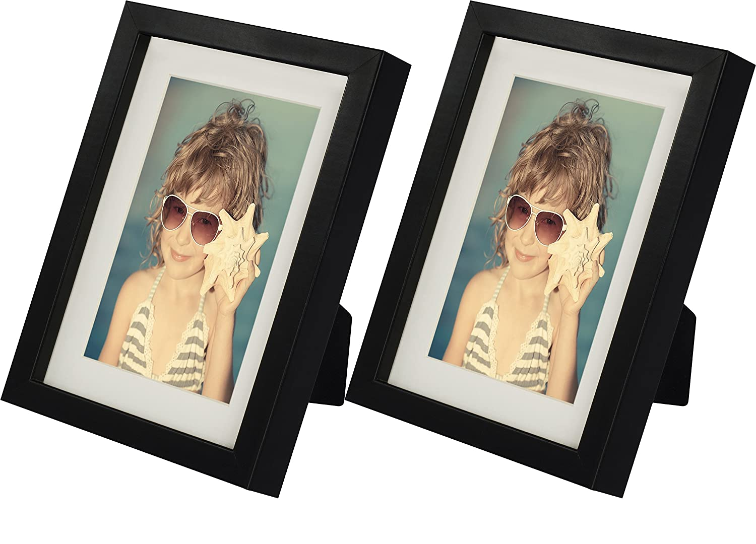 BD ART 4 x 6-Inch Picture Photo Frame - 2 Pack, WHITE