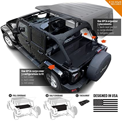 Amazon Com Gpca Jeep Wrangler 4dr Freedom Pack Lite Cargo Cover