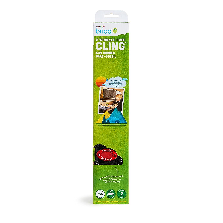 Brica White Hot Wrinkle-Free Cling Car Window Shade 2 Pack 61223