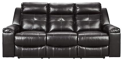 Ashley Furniture Signature Design 8210588 Kempten Reclining Sofa Black
