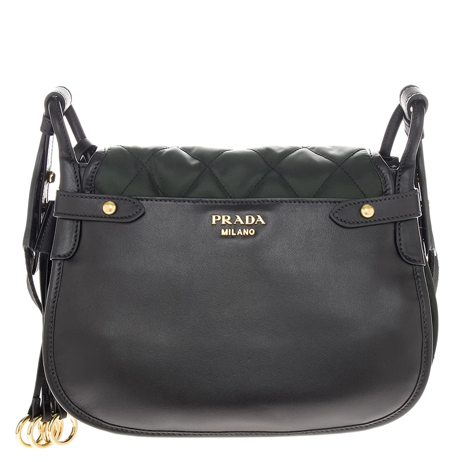 43462e6bf7c0 Amazon.com: Prada Women's Corsaire Quilted Handbag Green: Clothing