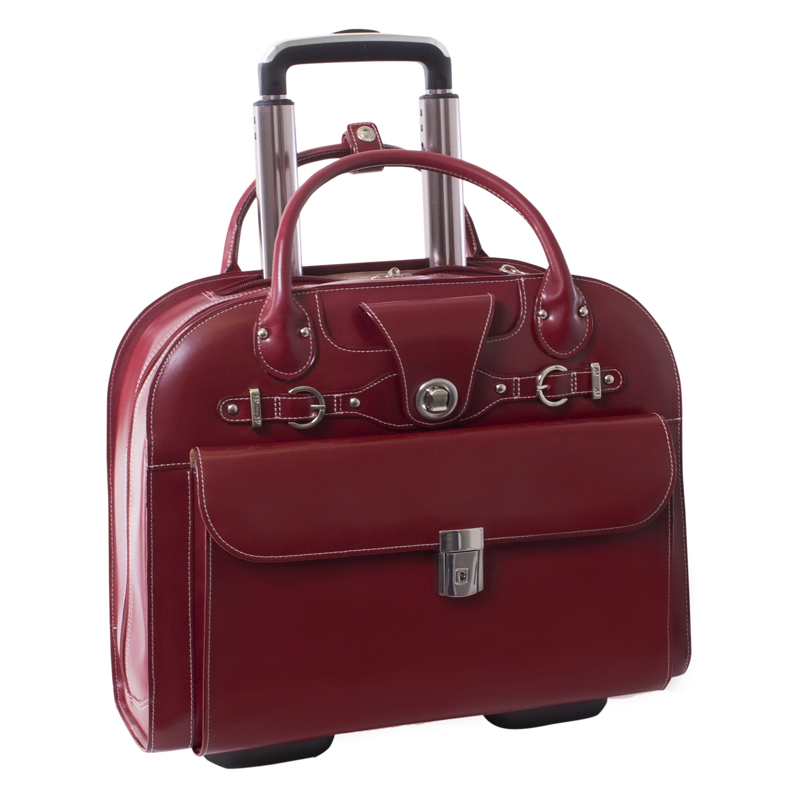 McKleinUSA EDGEBROOK 96316 Red Wheeled Ladies' Laptop Case