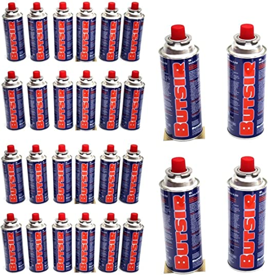 Butsir Cartuchos de recarga de gas 227 g – Pack de 28 cartuchos de gas