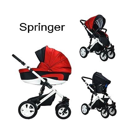 Springer - Cochecito para bebés 3 en 1, equipamiento básico, buggy y cochecito deportivo