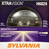 """SYLVANIA - H6024 XtraVision (7"""" Round) Sealed Beam Headlight - Halogen Headlight Replacement PAR56 Delivers More Downroad Visibility (Contains 1 Bulb)"""