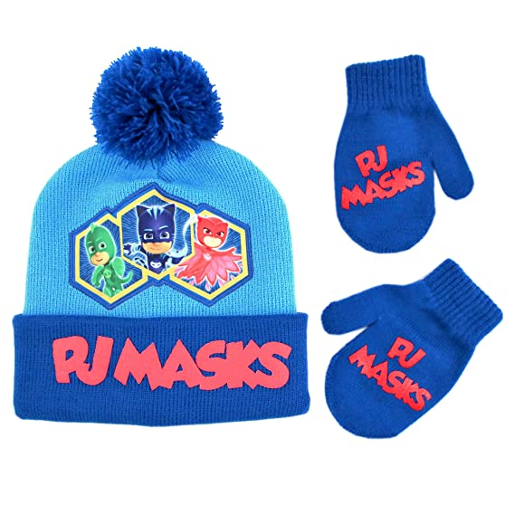 PJMASKS - Conjunto de gorro y manoplas para niños y niñas ecdd9bb1bc5