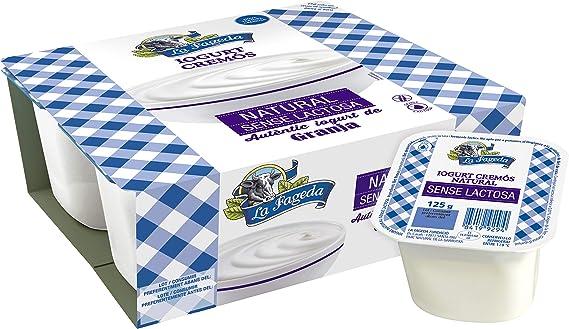 La Fageda Yogur Natural Sin Lactosa, 4 x 125 gr: Amazon.es: Alimentación y bebidas