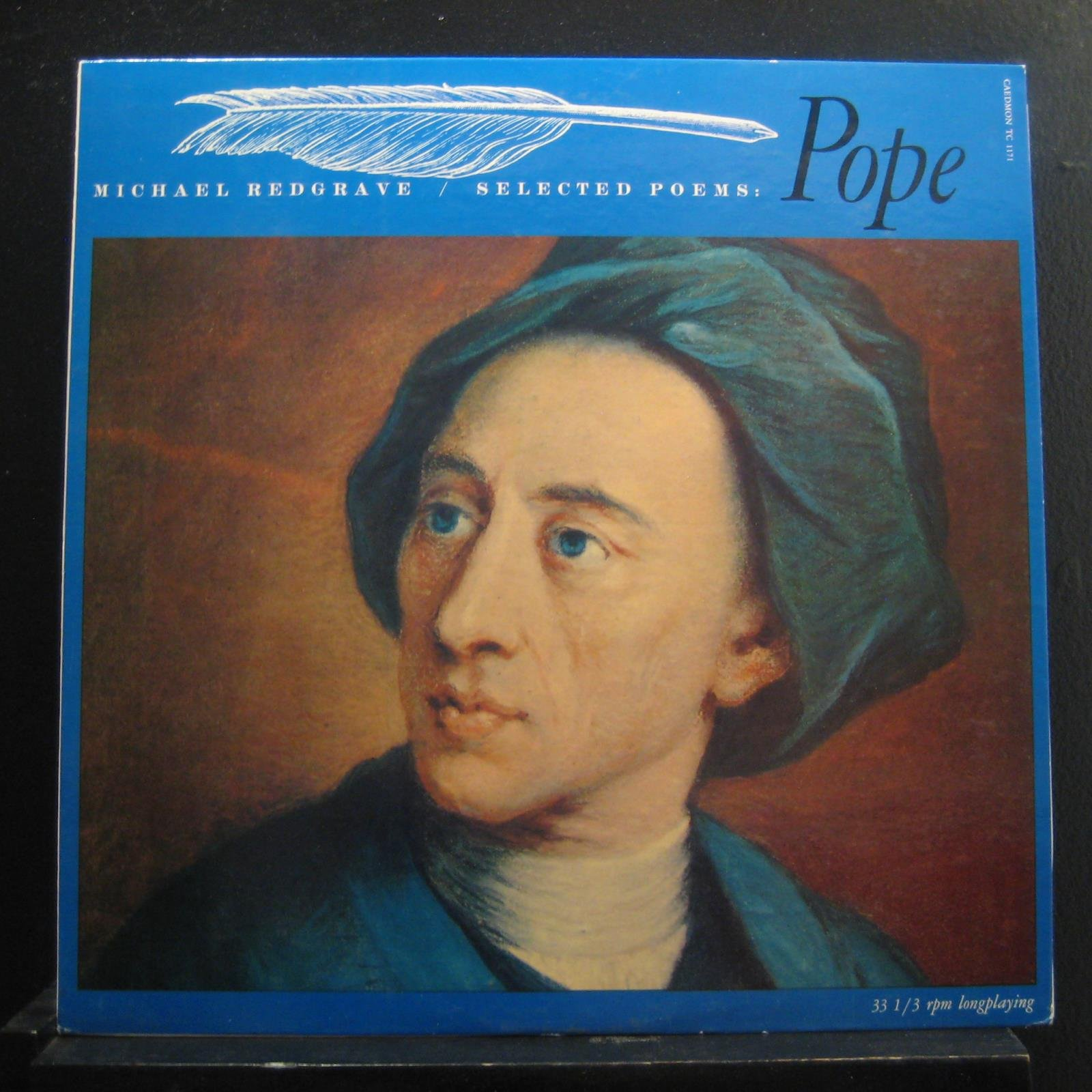 The Poetry of Alexander Pope - read by Sir Michael Redgrave - vintage vinyl record with Original Booklet