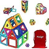 MEIGO Magnetic Blocks - Kids Magnetic Building Tiles Set STEM Educational Magnet Toys for Toddlers (30pcs & 70pcs)