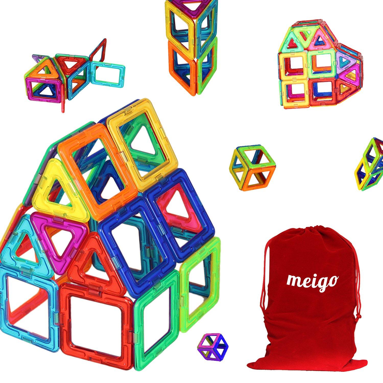 MEIGO Magnetic Blocks - Kids Magnetic Building Tiles Set STEM Educational Magnet Toys for Toddlers (30pcs)