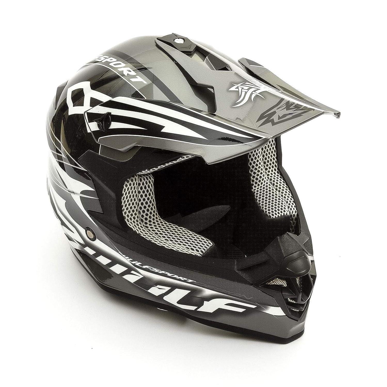 Adult Mx Helmet Wulfsport Sceptre Motorcycle Motorbike Quad Dirt Bike ATV Off Road Racing Enduro Motocross Helmet Black Clermont Direct