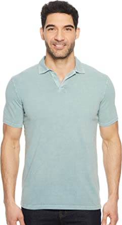 9f4f8db9f Mod-O-Doc Men's Pescadero Short Sleeve Johnny Collar Polo Oasis Stone Small