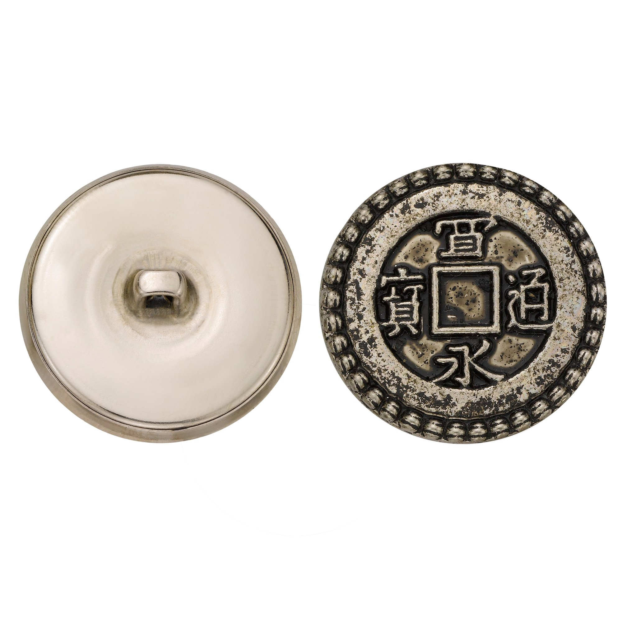 Size 30 Ligne 36-Pack C/&C Metal Products Corp Nickel C/&C Metal Products 5268 Crest Metal Button