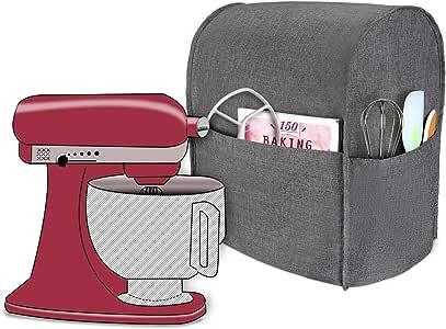 Luxja Cubierta a Prueba de Polvo para KitchenAid Batidora amasadora, (Adecuado 4, 3 litros y 4, 8 litros KitchenAid Batidora amasadora), Gris: Amazon.es