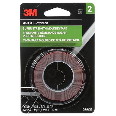 3M Super Strength Molding Tape, 03609, 1/2 in x 5 ft: Garden & Outdoor