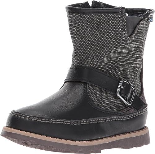 Carter/'s Galaway Kids Booties Black+Gray Casual Zip Up Dress Boots Toddler