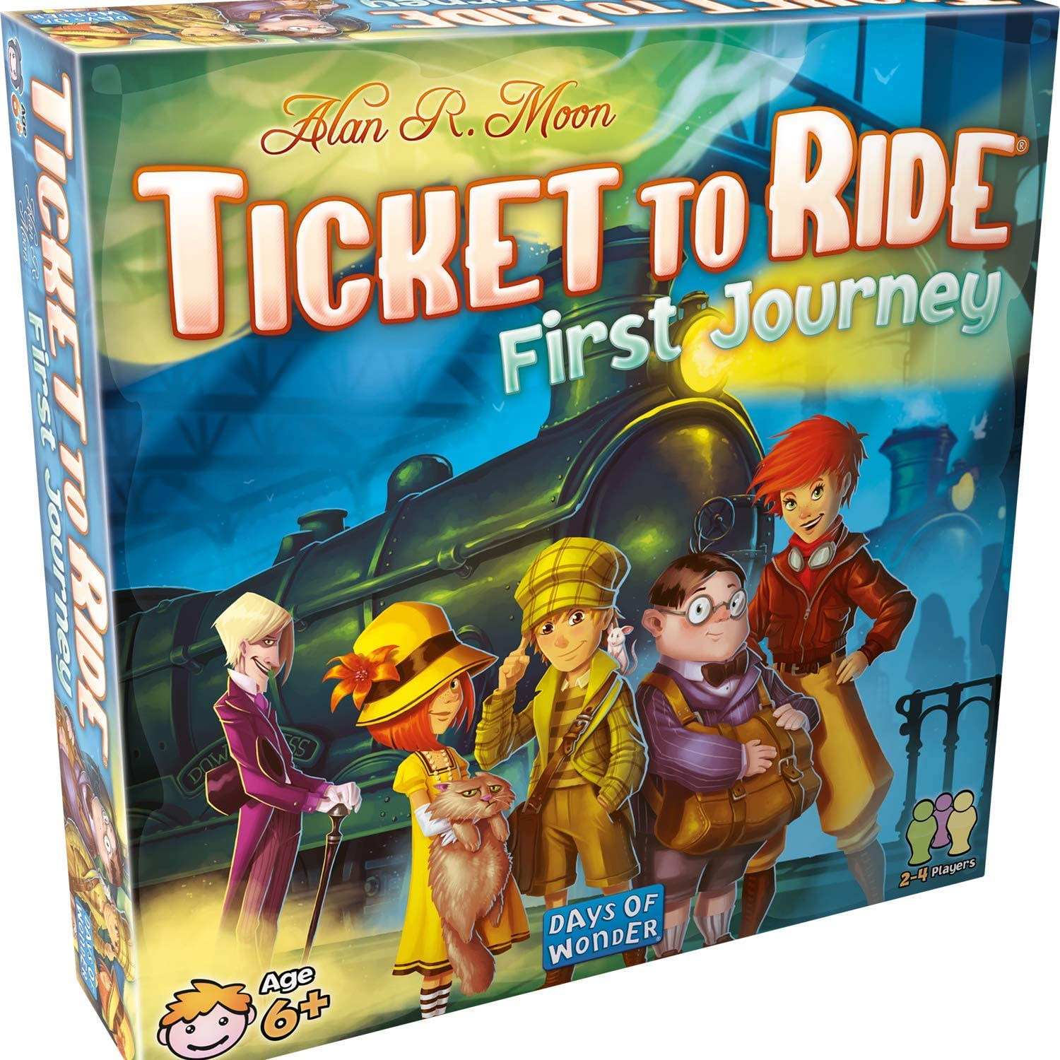 Best Card and board games for 6 year olds featured by top Seattle lifestyle blogger, Marcie in Mommyland: Ticket to Ride First Journey