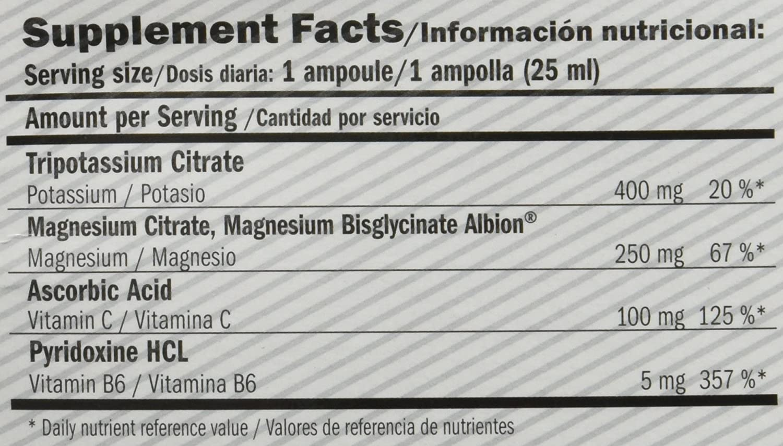 Amix Magnesium Liquid Plus, Suplemento de Vitaminas & Minerales, 20 de Unidades x 25 ml: Amazon.es: Salud y cuidado personal