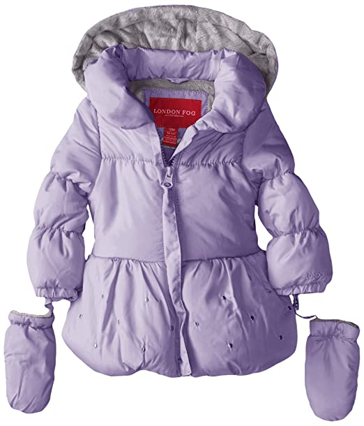 7ce3a3d8f Amazon.com  London Fog Baby Girls Poly Puffer Jacket